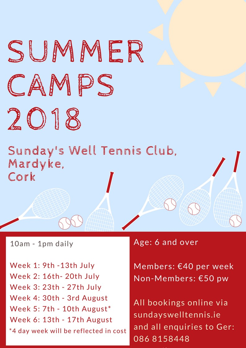 Week 4 Summer Camps 2018 | Sunday's Well Boating & Tennis Club